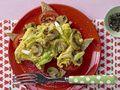 Pilz-Omelett mit Tomaten