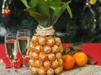 Geschenkidee: Schokoananas aus einer Sektflasche