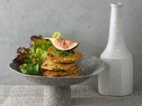Amaranth-Bratlinge mit Salat