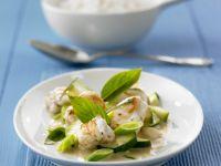 Anglerfisch mit Zucchini-Kokos-Curry