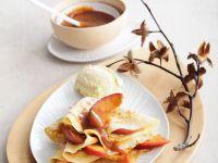 Apfel-Crêpes mit Karamell