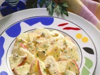 Apfel-Rettichsalat mit Joghurtdressing