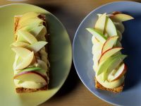 Apfel-Schnitten mit Quarkcreme