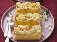 Apfelkuchen mit Erdnuss-Baiser-Topping