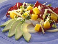 Apfelsalat mit Kürbis und Avocado