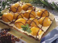 Aprikosen-Nuss-Kuchen mit Schokolade