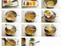 Asiatische Nudelsuppe mit Gemüse
