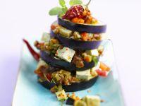 Aubergine mit Tofu und Gemüse