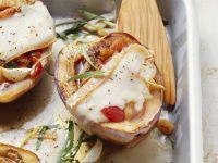 Auberginen mit Tomatenfüllung