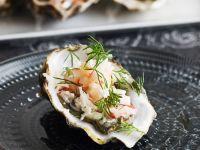 Austern mit Krebssalat