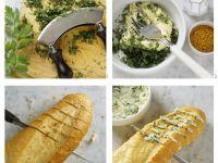 Baguette mit Kräutern