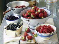 Beeren für Marmelade