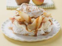 Birnen-Baiser-Kuchen mit Mascarpone