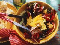 Blattsalat mit Fenchel und Orangen