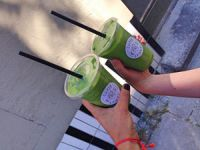 Gekaufte Green Smoothies