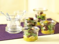 Bohnensalat mit Apfel-Kurkuma-Dressing