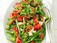 Bohnensalat mit Schafskäse