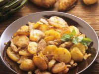 Bratkartoffel mit Kalbfleisch