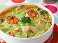 Brokkoli-Flan mit Putenfleisch