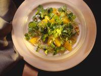 Brunnenkresse-Orangen-Salat