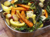 Buntes Gemüse aus dem Ofen