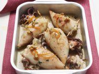 Calamari mit Kohlfüllung
