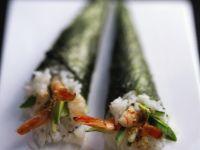 California-Maki mit Shrimps und Avocado