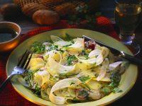 Capaccio mit Kartoffeln, Rettich und Radieschen