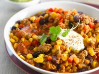 Chili mit Mais und Bohnen