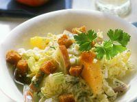 Chinakohlsalat mit Früchten