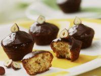 Cognac-Muffins mit Schokoladenglasur