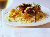 Couscous mit Kalbsröllchen