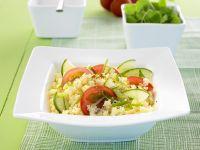 Couscous-Tomaten-Salat mit Gurke