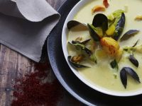 Cremesuppe mit Muscheln