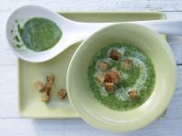Cremige Spinatsuppe