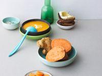 Cremige Süßkartoffel-Möhren-Suppe mit Ingwer