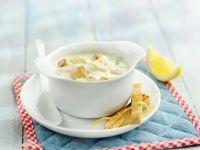 Cremige Suppe mit Muscheln
