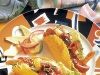 Crevettensalat in Tacoschalen