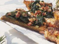 Crostini mit Spinat