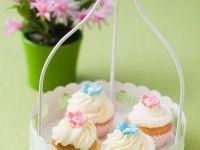 Cupcakes mit Zuckerblüten