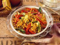Curry-Gemüse mit roten Linsen