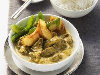Curry mit Rind und Nektarinen