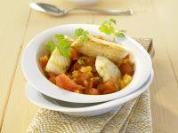 Curry nach indischer Art mit Heilbutt