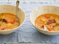 Deftige Kartoffel-Bohnensuppe