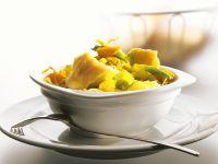 Dorsch mit Gemüse und Zitronengrassauce