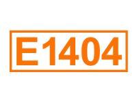 E 1404 ein Lebensmittelfüllstoff