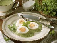 Eier mit grüner Soße auf Frankfurter Art