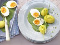 Eier mit Spinatsauce