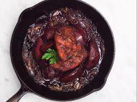 Entenbrust mit Rotwein-Quitten