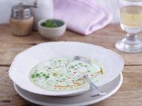Erbsen-Mandelcreme-Suppe
